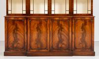 Regency Style 4 Door Breakfront Mahogany Bookcase (9 of 9)