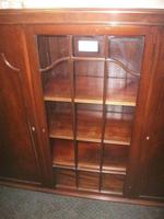 Large Glazed Mahogany Bookcase Cabinet (3 of 4)