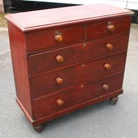 1900's Large Country Pine Chest of Drawers