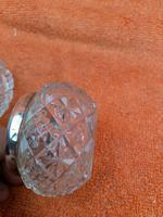 Antique Sterling Silver Cut Glass Salts Cellars 1906 Duncan & Scobbie  Birmingham (6 of 9)