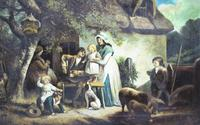 Pair of Early 19th Century Country Genre Scenes Oil on Canvas (12 of 21)