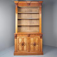 Antique Victorian Golden Oak Open Bookcase (2 of 20)