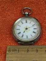 Antique .935 Silver Swiss Hallmarked Pocket Fob Watch c.1880 (5 of 8)