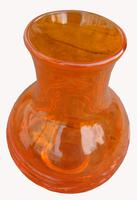 An Orange Strap Vase by James Powell & Sons (2 of 5)