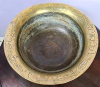 Large & Heavy Chinese Brass Bowl (3 of 6)