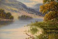 """Oil Painting by M.C Hider """"A Highland Loch"""" (3 of 5)"""