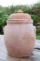 Large Earthenware Lidded Storage Jar (5 of 10)