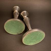 Pair of Silver Simple Round Pedestal Candlesticks (7 of 7)