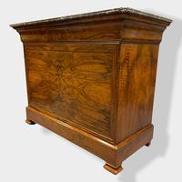 Figured Walnut & Marble Top Commode (3 of 16)
