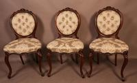Fantastic Set of 6 Victorian Walnut Dining Chairs (8 of 14)