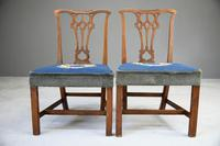 Pair of Chippendale Style Chairs (4 of 12)