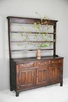 Antique Rustic English Country Kitchen Georgian Oak Dresser (9 of 12)