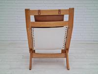 Scandinavian armchair, adjustable back, cowhide, 70s (14 of 20)