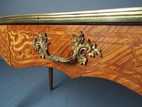 Antique Victorian Inlaid Kingwood Writing Table (9 of 14)