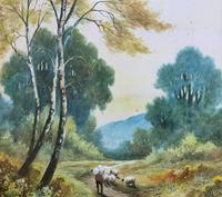 Near Darley Dale 19thc Derbyshire Sheppard Sheep  Landscape Watercolour Painting (6 of 13)