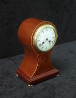 French Belle Epoque Mahogany Mantel Clock by Japy Freres (3 of 6)