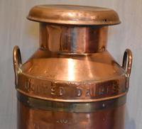 Large United Dairies Copper Milk Churn (6 of 7)