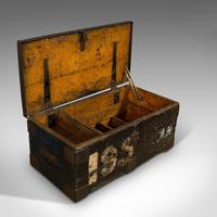 Antique Farrier's Chest, English, Pine, Iron, Tool Trunk, Edwardian c.1910 (6 of 11)