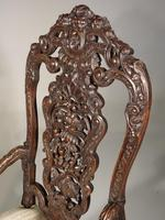 Remarkable Pair of Late 19th Century Walnut Throne Chairs (5 of 10)