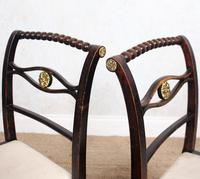 4 Regency Ebonised Dining Chairs Trafalgar (12 of 12)