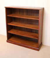 Edwardian Mahogany Open Bookcase c.1910 (8 of 11)