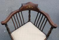 1900's Mahogany Corner Chair with Inlay (2 of 4)