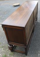 1940s Large Well Carved Oak Sideboard with Tudor Rose Motif (5 of 5)