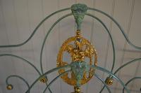 Antique Victorian Brass & Iron Bed 5ft Kingsize Bedstead Sympathetically Restored (6 of 17)
