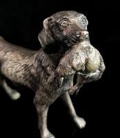 Vintage Gundog Figure, Spelter, Hunting Dog (7 of 9)