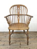 Antique Beech & Elm Windsor Armchair