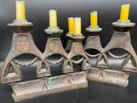 Pair of Russian Matryoshka Candlesticks (2 of 4)