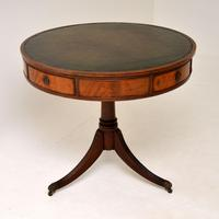 Antique Regency  Style Mahogany & Leather Drum Table (2 of 9)