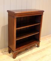 Edwardian Inlaid Mahogany Open Bookcase (2 of 8)
