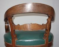 Carved Oak Victorian Desk Chair (7 of 9)