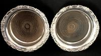 Pair of Antique Silver Plate on Copper Bottle Coasters (3 of 5)