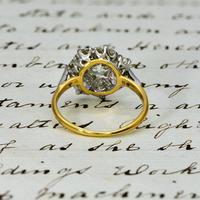 The Antique 3 Carat Diamond Cluster Ring (5 of 6)