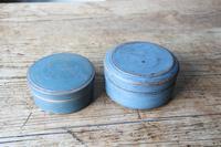 Swedish 'Folk Art' original blue painted wooden storage box / jar 19th Century (13 of 15)