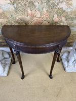 Carved Georgian Style Fold Over Card Table (4 of 8)