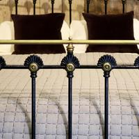 Late Victorian Cast Iron Antique Bed in Black (5 of 8)