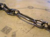 Georgian Pocket Watch Chain 1830s Antique Steel Large Fancy Albert With T Bar (7 of 12)