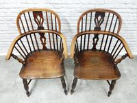 Pair of Named Windsor Lowback Armchairs, F Walker of Rockley (3 of 8)