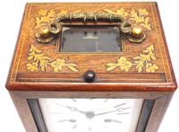 Fine French Officers 8-day Mantel Clock – Rosewood Case With Satinwood Inlay (7 of 13)