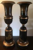 Large Pair  of Japanese Chinoiserie Urns (2 of 8)