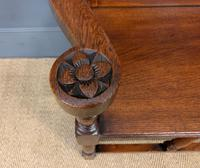Late 19th Century Carved Oak Bench (7 of 12)