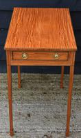 Superb Quality Georgian Satinwood & Inlaid Lamp / Wine / Side Table with Drawer (4 of 10)