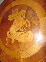 Italian Sorrento Walnut Inlaid Tripod Table (7 of 8)