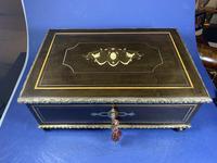 19th Century French  Ebonised Fruitwood Jewellery Box (15 of 18)