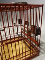 Most Unusual 1920's Hardwood & Lacquered Bird Cage (2 of 9)