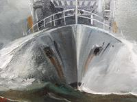 Oil on Board The Battle Ship Listed Artist Dion Pears (9 of 12)