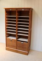 French Oak Double Tambour Front Filing Cabinet (9 of 10)